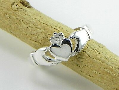 Anello Claddagh, in argento 925 - Claddag ring in silver 825