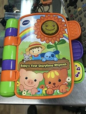 Vtech Storytime Rhymes Book Baby Musical Toy Story Kids Listen Sing Read