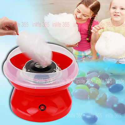 Au Red Electric Candyfloss Making Machine Home Cotton Sugar Candy Floss Maker Pa