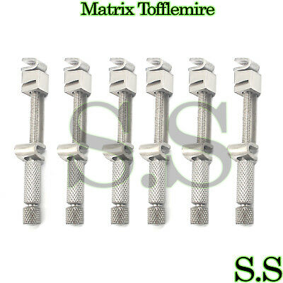 6 Pieces Matrix Tofflemire Retainer Universal Bands Dental INSTRUMENTS