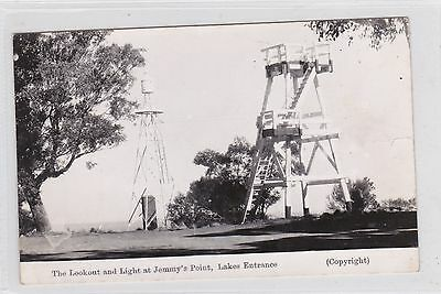 VINTAGE POSTCARD THE LOOKOUT AT JEMMY'S POINT LAKES ENTRANCE    1900s