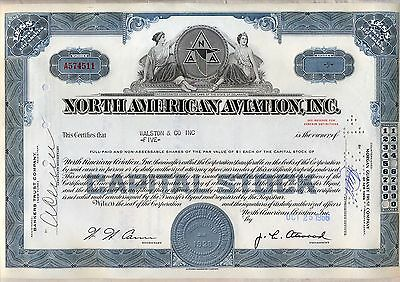 North American Aviation Stock Certificate Now Boeing