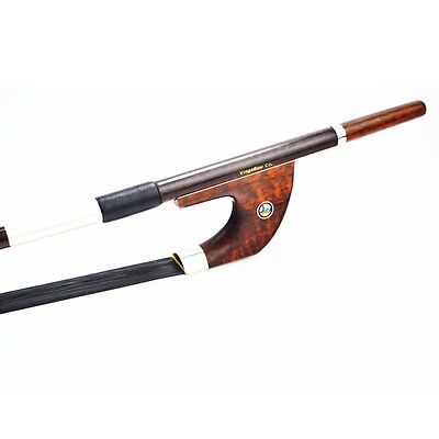 3/4 Black Horsehair Snakewood Double Bass Bow, German Model. Bright Tone!