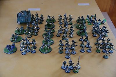 Astra Militarum Cadian Army - painted- very good cond - ready to play with codex