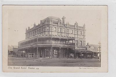 VINTAGE POSTCARD THE GRAND HOTEL KIAMA  REAL PHOTO NSW 1900s