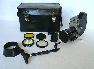 Vintage ZENIT Krasnogorsk 3 Professional Wind up Movie Camera 16mm+ Leather case