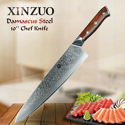 XINZUO 10 inch chef knife Japanese Damascus steel kitchen knife Gyutou knife