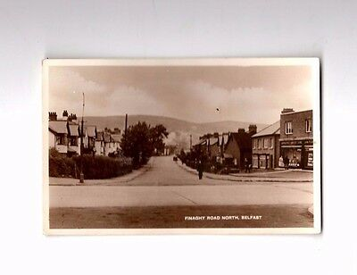 Finaghy Road North Belfast 1945 posted postcard with George VI stamp