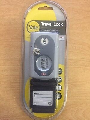 Yale TSA Luggage Travel Lock  Strap With Inspection Indicator