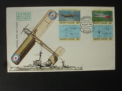 St Lucia : 1985 Leaders of the World : Pictorial FDC