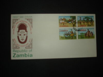 Zambia : 1977 Arts and Culture : Pictorial FDC
