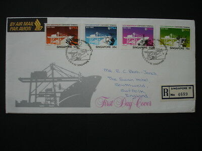 Singapore : 1982 Container Terminal : Pictorial FDC