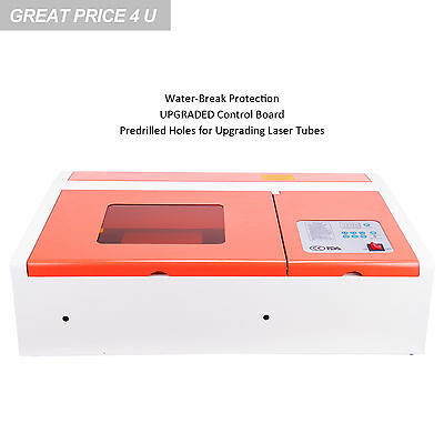 Water-Break Protection 40W CO2 Laser Engraver Cutting Machine w/ USB Interface