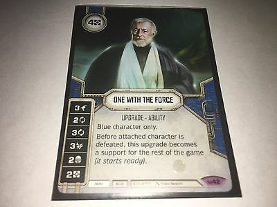 Star Wars Destiny Awakenings - Legendary One With The Force #42 Card Only No Die