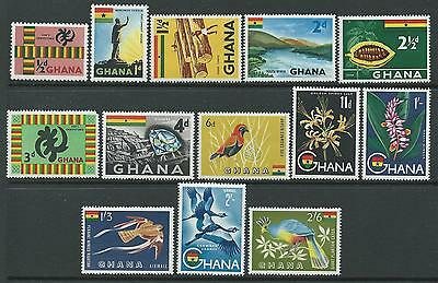 Ghana SG213-223, 226-227 1959 Definitives to 2/6d Unhinged Mint