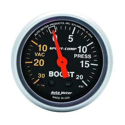 AutoMeter 3301 Sport-Comp Mechanical Boost/Vacuum Gauge