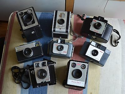 Job Lot Of Old Collectable Cameras
