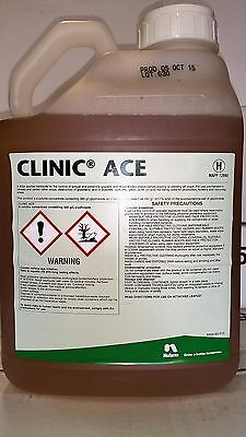 2 X 5Ltr Clinic Ace PROFESSIONAL Glyphosate Weed Killer
