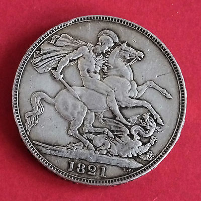1821 Secundo George Iv Silver Crown