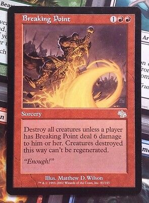 MTG 1x BREAKING POINT - M/NM - JUDGMENT Rare Sorcery