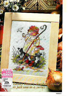 Cross Stitch Chart - Bertie The Shepherd Mouse - A Country Companion