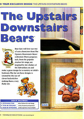 Cross Stitch Chart - The Upstairs Downstairs Bears For Cross Stitching