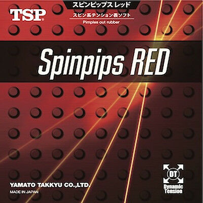 TSP Spinpips Red Table Tennis Rubber (New) (Sale)
