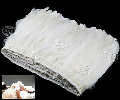 Beautiful White Goose Feathers 15-20 cm For Clothing Wedding Party Hat Decor