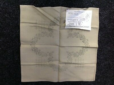 Embroidery - Cushion Cover / Chairback -Linen Look Rayon