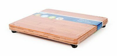 Camco 43546 Bamboo Cutting Board With Juice Groove And Padded Feet