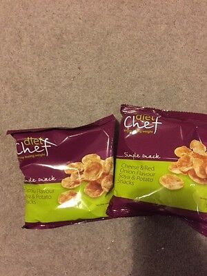 Diet Chef Potato Snacks - Cheese and Onion Flavor x 4 and Paprika Flavor x 4