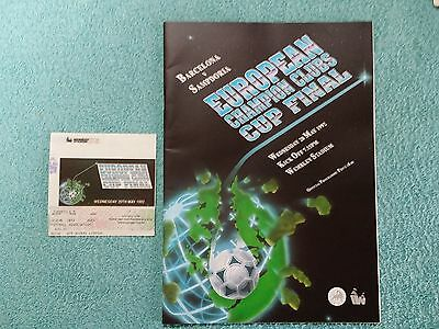 1992 - EUROPEAN CUP FINAL PROGRAMME + TICKET - BARCELONA v SAMPDORIA