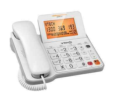 Corded Phone Digital Telephone Handset Home Desk Wall Mounted LCD Large Button