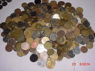 FREE SHIPPING 10 [TEN] POUND LOT Assorted Game Room Arcade Car Wash Tokens