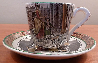 "Antique Adams CRIES OF LONDON  ""Primroses"" demitasse cup and saucer"