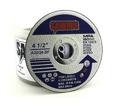 "50x SALI Thin Metal Cutting Disc 115mm for 4½"" Angle Grinder MPA & ISO Approved"