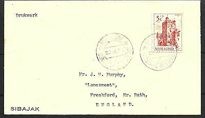 1951 Netherlands Paquebot Cover To Bath