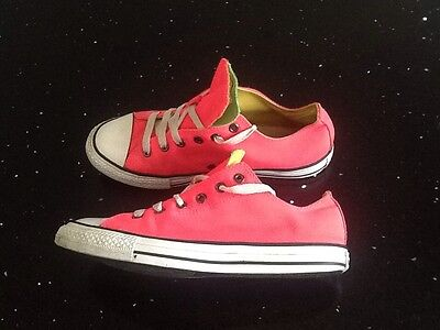 Ladies Converse Pink/White low rise trainers size 5 uk
