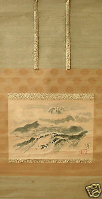 Antique - Japanese Painting- Mt. Fuji - Signed - 1 Seal Of The Artist.