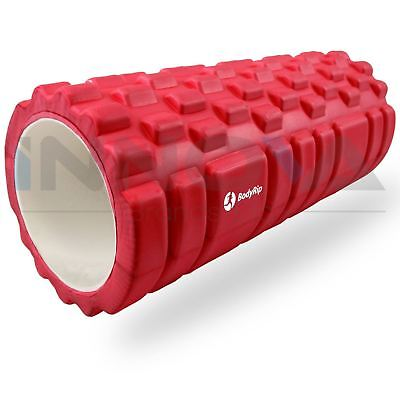 New Sports Massage Roller 32cm Trigger Point Body Massage Relax Gym Pink