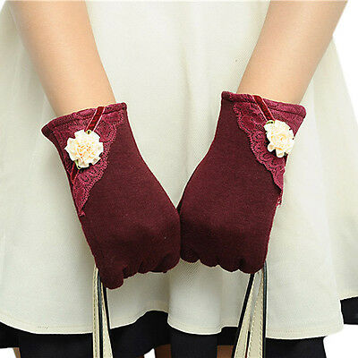 NEW Fashion Womens Touch Screen Winter Warm Wrist Gloves Mittens Red