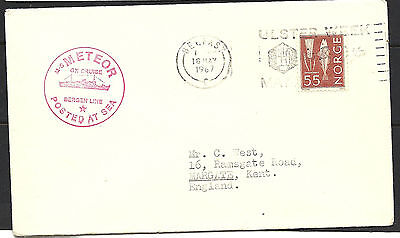 1967 Norway Paquebot Cover To Kent