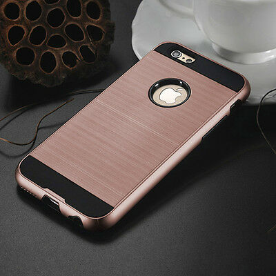 Anti-shock Hard Back RoseGold Hybrid Armor Case Cover For Iphone 6 6s {[ms7