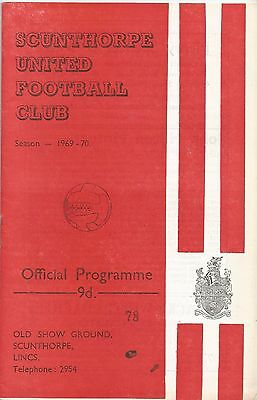 Scunthorpe United v Northampton Town, 17 March 1970, Division 4