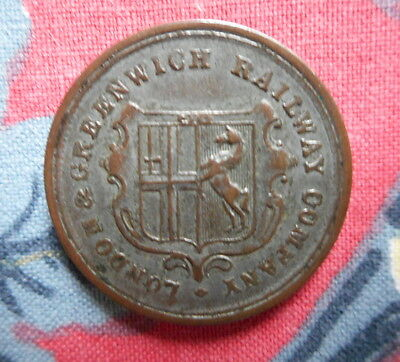 London & Greenwich Railway Company Token.