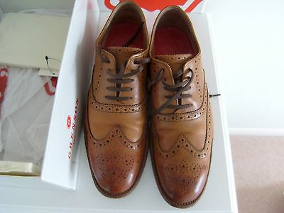 Grenson Dylan Men's Tan Leather Brogue Shoes size 8