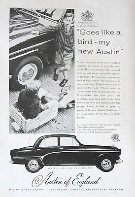 Westminster A 90 Austin of England Vintage Magazine Advert 1956 Mounted on Card
