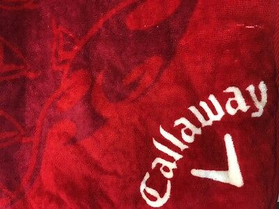 Callaway Players Golf Towel Red