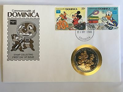Dominica Disney Fdc 1986 Stamp Collecting & Coin Mickey Mouse Donald Duck