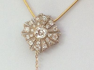 Exceptional Victorian Diamond Brooch/pendant